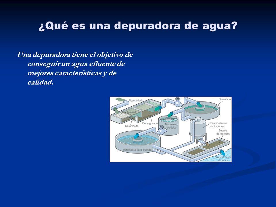¿Qué es una depuradora de agua? Una depuradora tiene el objetivo de conseguir un agua efluente de mejores características y de calidad.