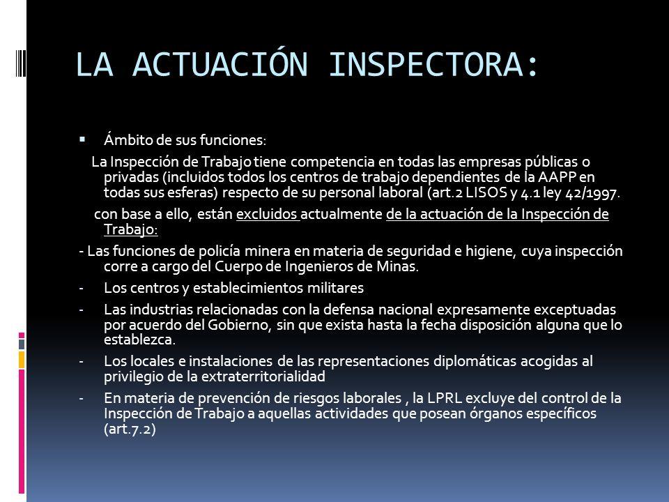 LA ACTUACIÓN INSPECTORA: LA ASISTENCIA TÉCNICA: La Inspección de Trabajo debe cumplir una función de asesoramiento técnico gratuito a los empresarios y trabajadores con ocasión del ejercicio de la función inspectora (art.3.2 ley 42/1997), bien de propia iniciativa o por consultas planteadas por éstos.