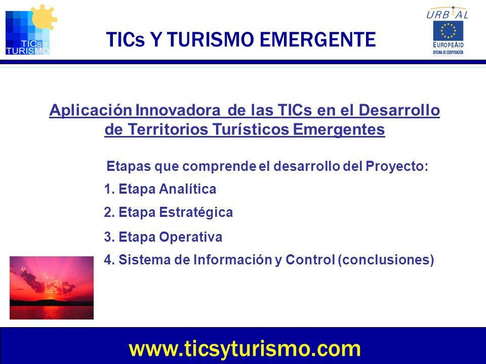TICs Y TURISMO EMERGENTE Sesión 1 Análisis del destino turístico existente Etapa Analítica – Etapa Estratégica – Etapa Operativa – Conclusiones