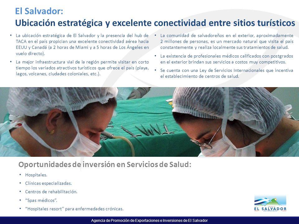 Agencia de Promoción de Exportaciones e Inversiones de El Salvador El Salvador: Ubicación estratégica y excelente conectividad entre sitios turísticos