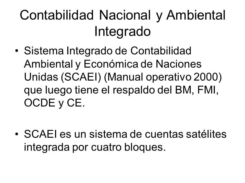 Contabilidad Nacional y Ambiental Integrado Sistema Integrado de Contabilidad Ambiental y Económica de Naciones Unidas (SCAEI) (Manual operativo 2000)