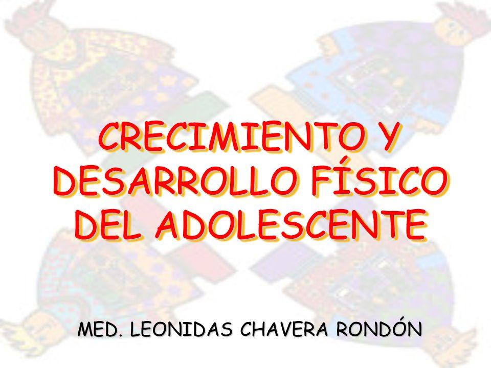 CRECIMIENTO Y DESARROLLO FÍSICO DEL ADOLESCENTE MED. LEONIDAS CHAVERA RONDÓN