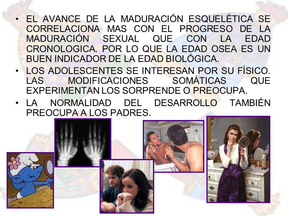 EL VELLO PUBIANO (+ VARIABLE) ALCANZA SU ESTADIO FINAL (VP5) A LOS 15.9 AÑOS.