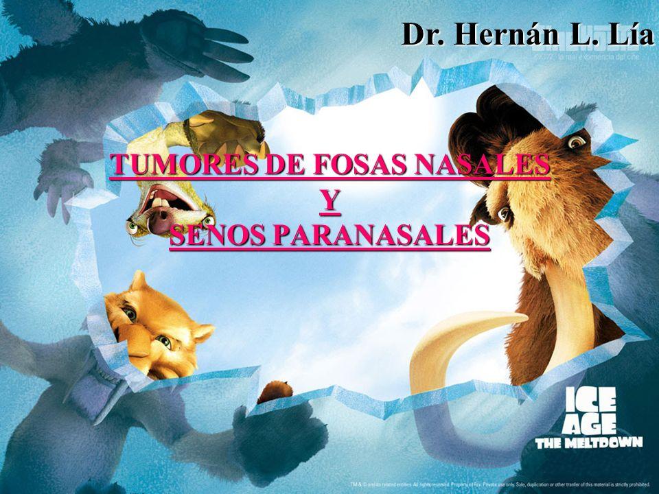 TUMORES DE FOSAS NASALES Y SENOS PARANASALES Dr. Hernán L. Lía