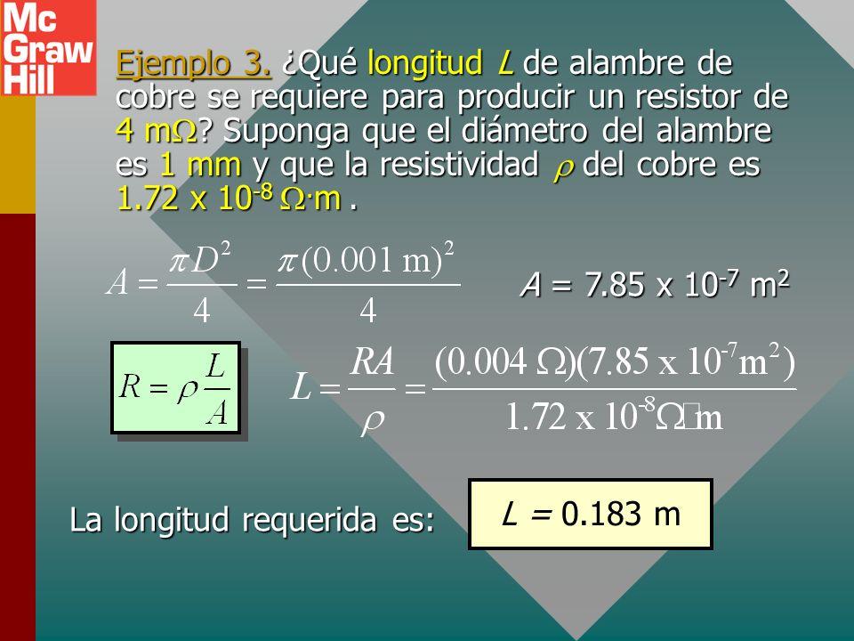Resistividad de un material La resistividad es una propiedad de un material que determina su resistencia eléctrica R. Al recordar que R es directament