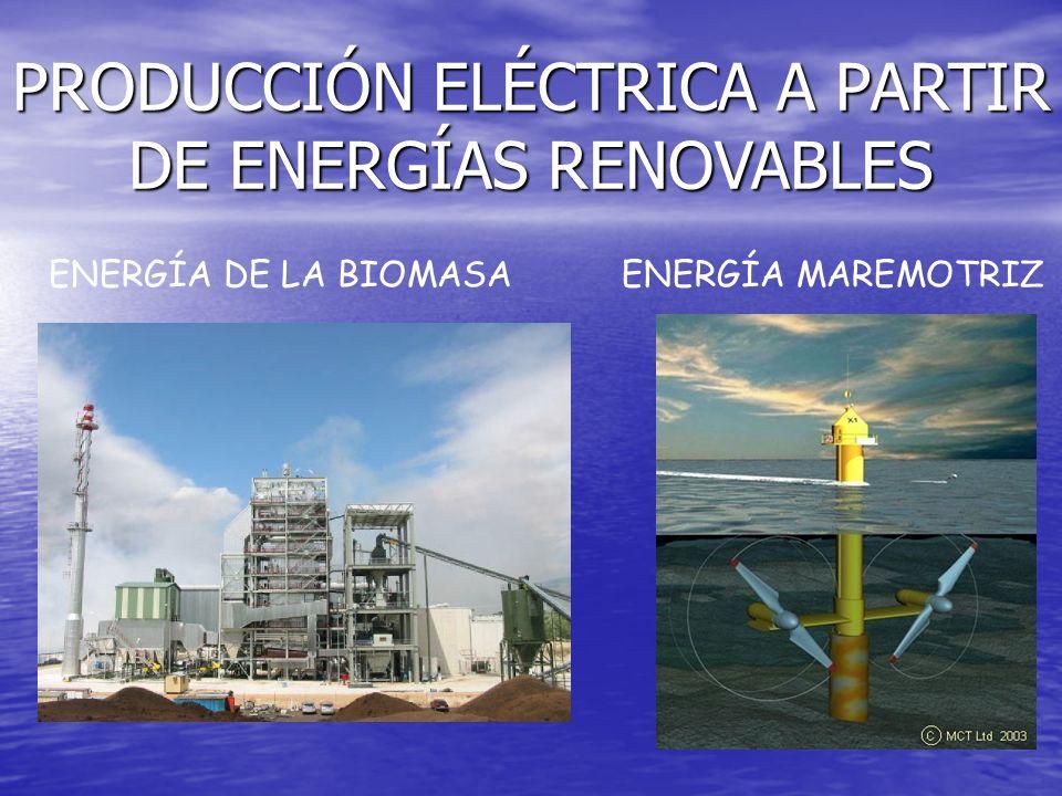 PRODUCCIÓN ELÉCTRICA A PARTIR DE ENERGÍAS RENOVABLES ENERGÍA EÓLICA ENERGÍA SOLAR ENERGÍA HIDROELÉCTRICA