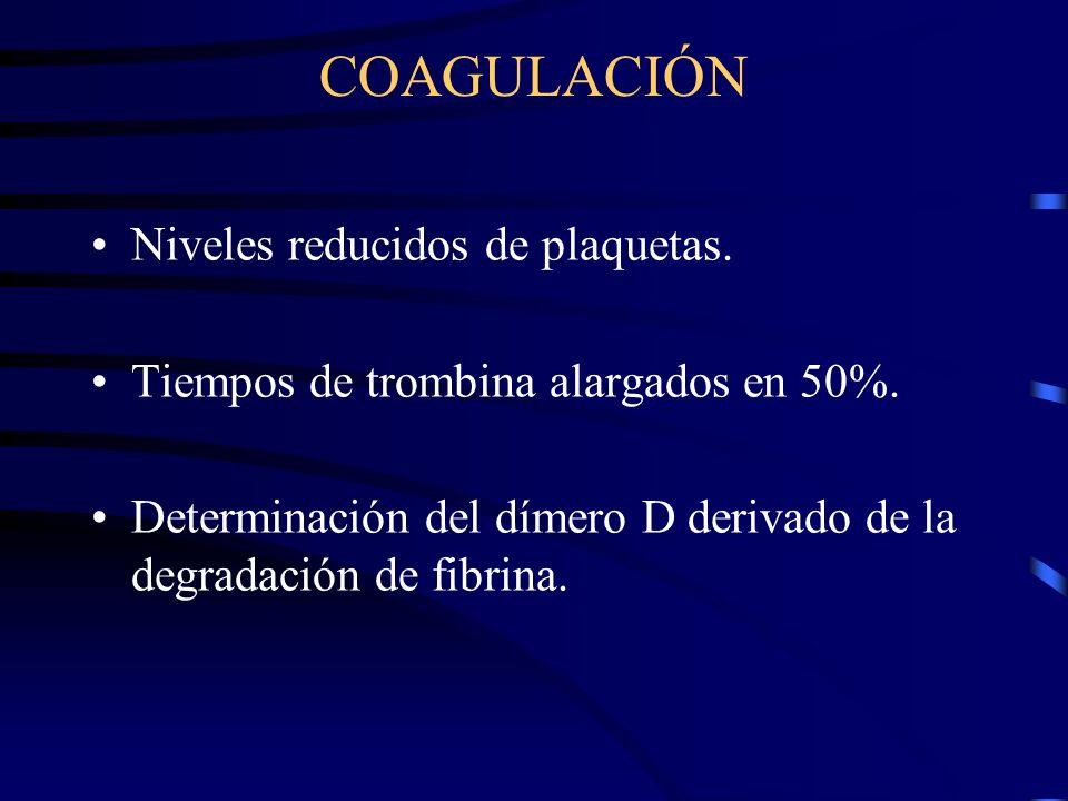 LABORATORIO HEMOGLOBINA Y HEMATOCRITO Hemoconcentración apoya el diagnostico y es indicador de severidad. Frotis sanguíneo nos apoya el diagnostico de