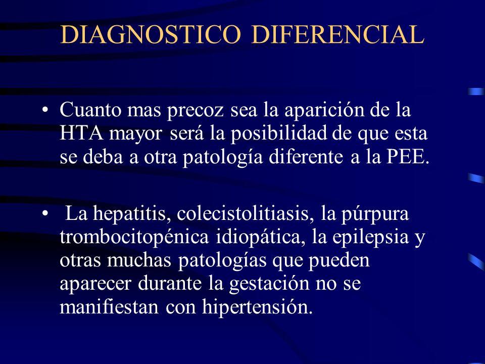 DIAGNOSTICO DIFERENCIAL El examen del fondo del ojo es importante, así la presencia de hemorragias, exudados o cambios arteriolares proliferativos ind