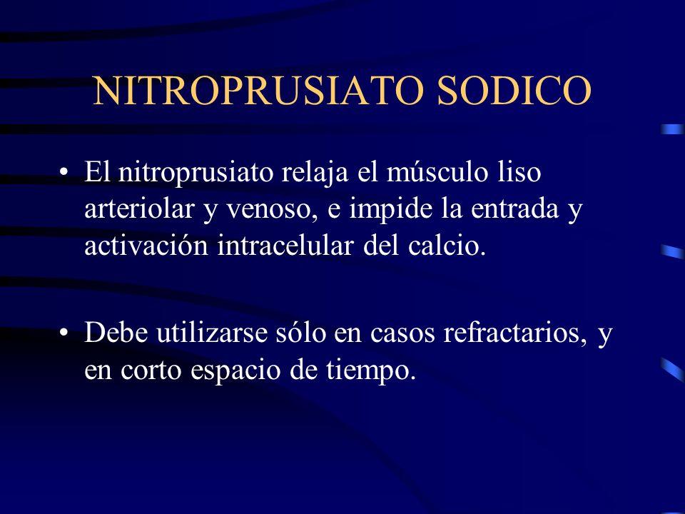 HIDRALAZINA El uso oral se debe comenzar con 25 mg cada 6 h, e ir subiendo hasta alcanzar un máximo de 300 mg/d. La hidralazina puede provocar distres