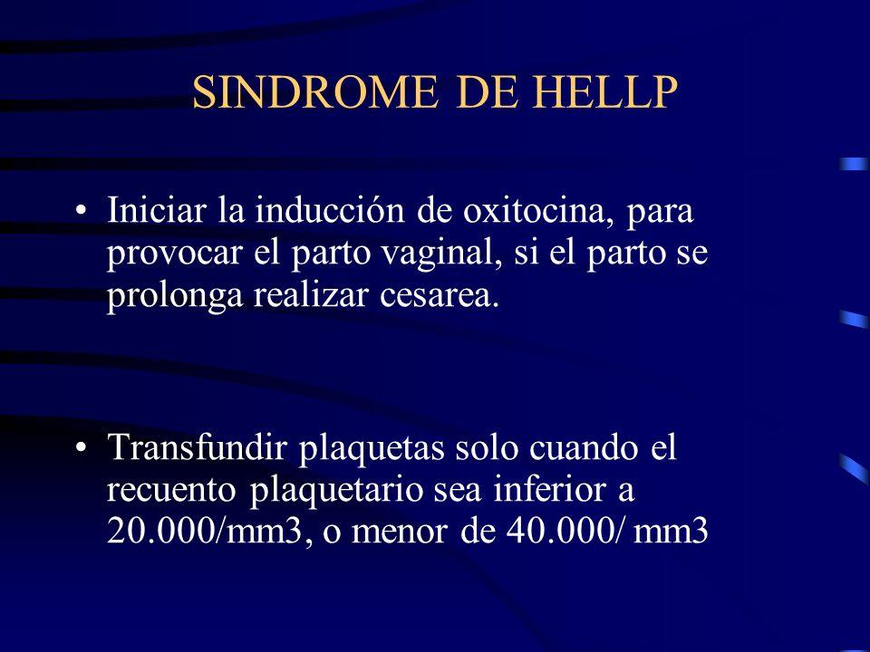 EXTRACCION DEL FETO RELATIVAS Hipertensión grave Dolor epigástrico Proteinuria severa. Cese de crecimiento fetal. No debe inducirse el parto hasta que