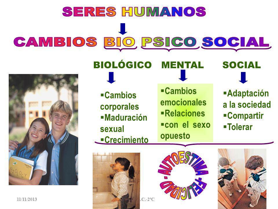 11/11/2013Mabel S.C.-2ºC1 Implica la intervención de dos sexos: mujer y hombre, esto permite la conservación de la especie La sexualidad es una forma de comunicación entre las personas que expresan sus sentimientos, tengan o no la intención de concebir un nuevo ser.