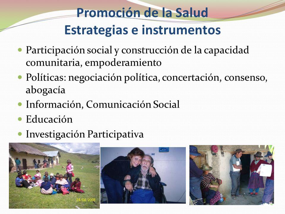 Estrategias de Prevención Primaria: educación sanitaria, desarrollo comunitario, comunicación e información Secundaria: detección, diagnóstico precoz