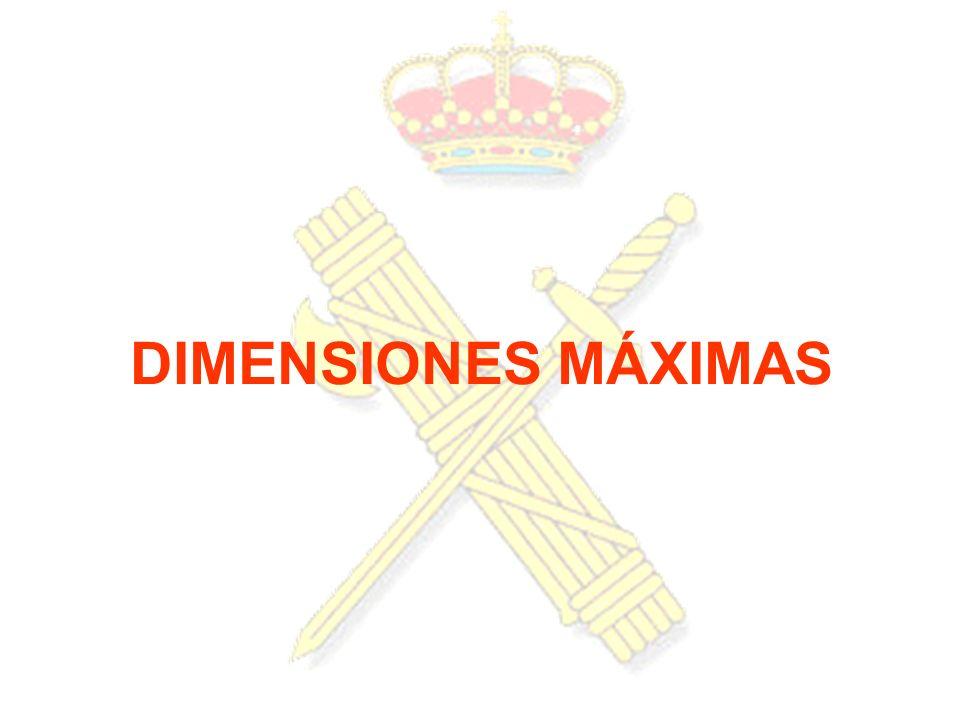 DIMENSIONES MÁXIMAS