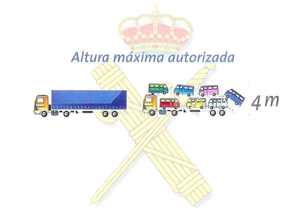 CARGAS DE MAYOR LONGITUD QUE EL VEHÍCULO Sólo transporte de Mercancías que cons- tituyen carga indivisible.