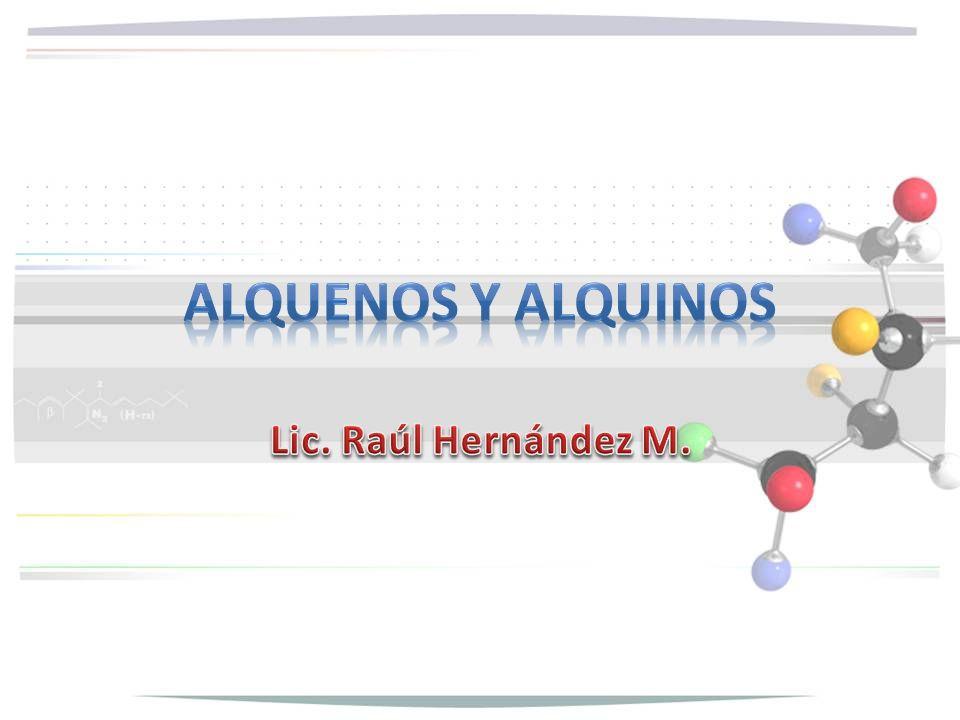 Los alquenos son hidrocarburos cuyas moléculas contienen doble enlace carbono- carbono.