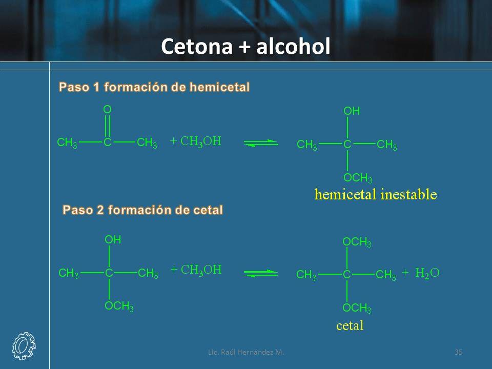 Cetona + alcohol 35Lic. Raúl Hernández M.