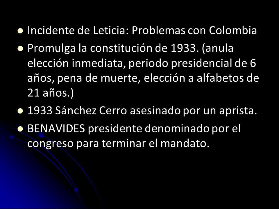 1932, atentado fallido contra el presidente y por ello Haya de la Torre fue encarcelado. Otras rebeliones apristas en el norte del país, pero la resis