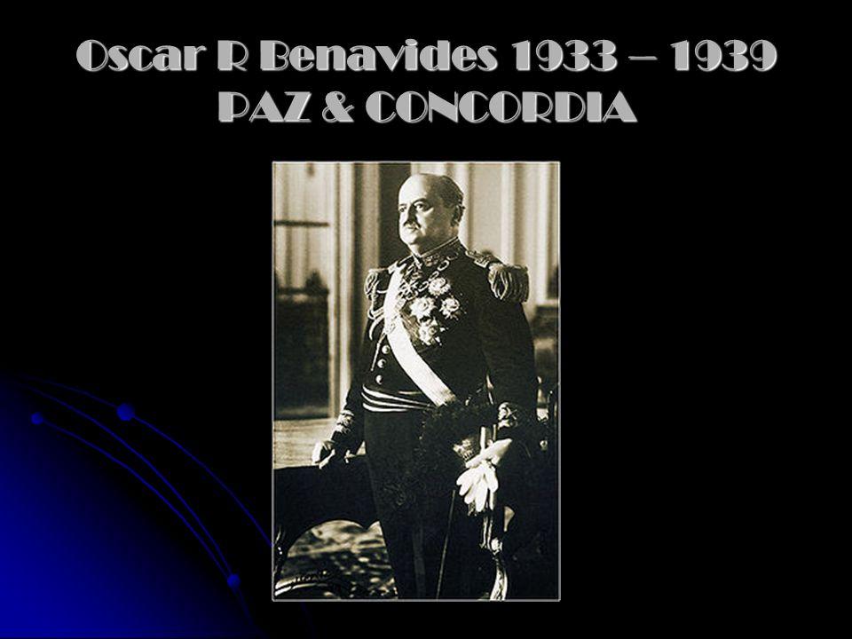 Incidente de Leticia: Problemas con Colombia Promulga la constitución de 1933. (anula elección inmediata, periodo presidencial de 6 años, pena de muer