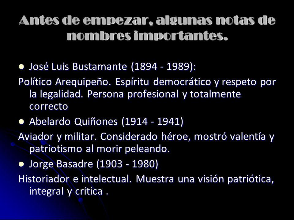 El Perú entre dictaduras y democracias.