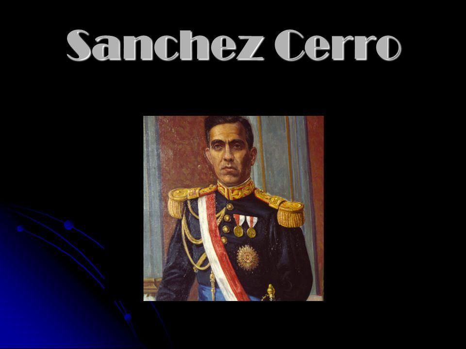 1931 – 1933 Luis Miguel Sánchez Cerro 1931 – 1933 Luis Miguel Sánchez Cerro 1933-1939 Oscar R. Benavides 1933-1939 Oscar R. Benavides 1939-1945 Manuel