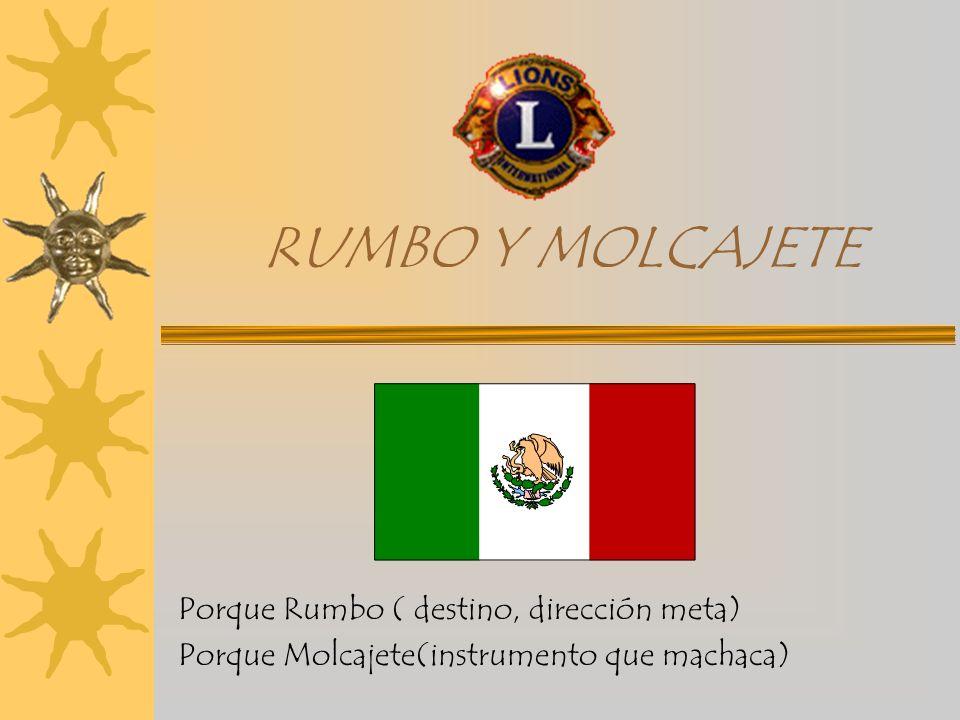 RUMBO Y MOLCAJETE Porque Rumbo ( destino, dirección meta) Porque Molcajete(instrumento que machaca)
