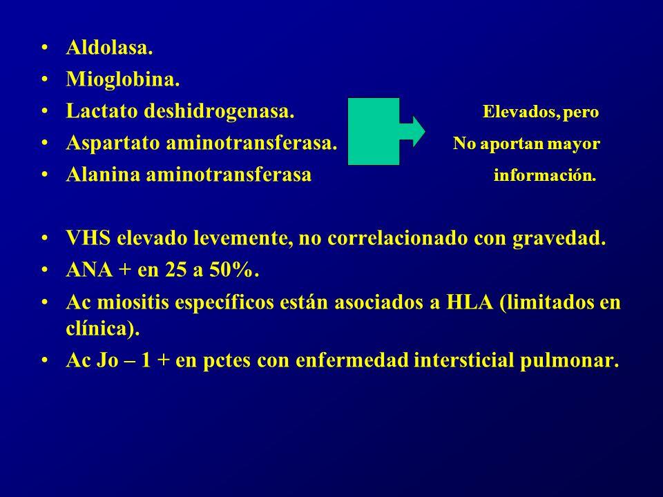 Electromiografia Útil en la demostración de la naturaleza miopática del desorden.