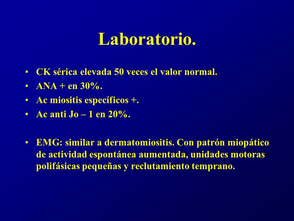 Tratamiento.No difiere de dermatomiositis. Agente ppal, corticoides.