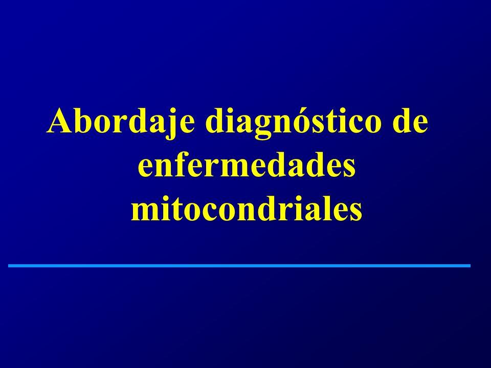 Determinación del acido láctico Enzimas musculares EMG Biopsia muscular Microscopia electrónica Neuroimágenes Estudio molecular