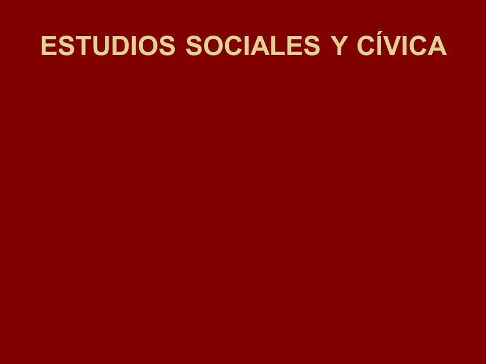 ESTUDIOS SOCIALES Y CÍVICA