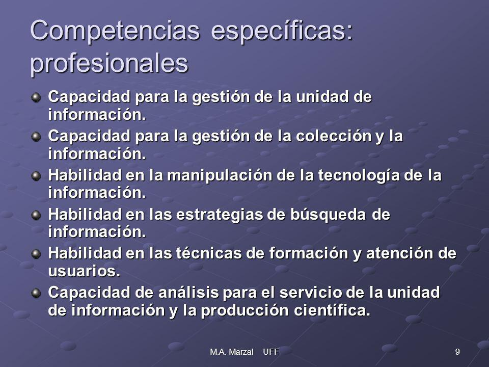 10M.A.Marzal UFF Competencias transversales: instrumentales.