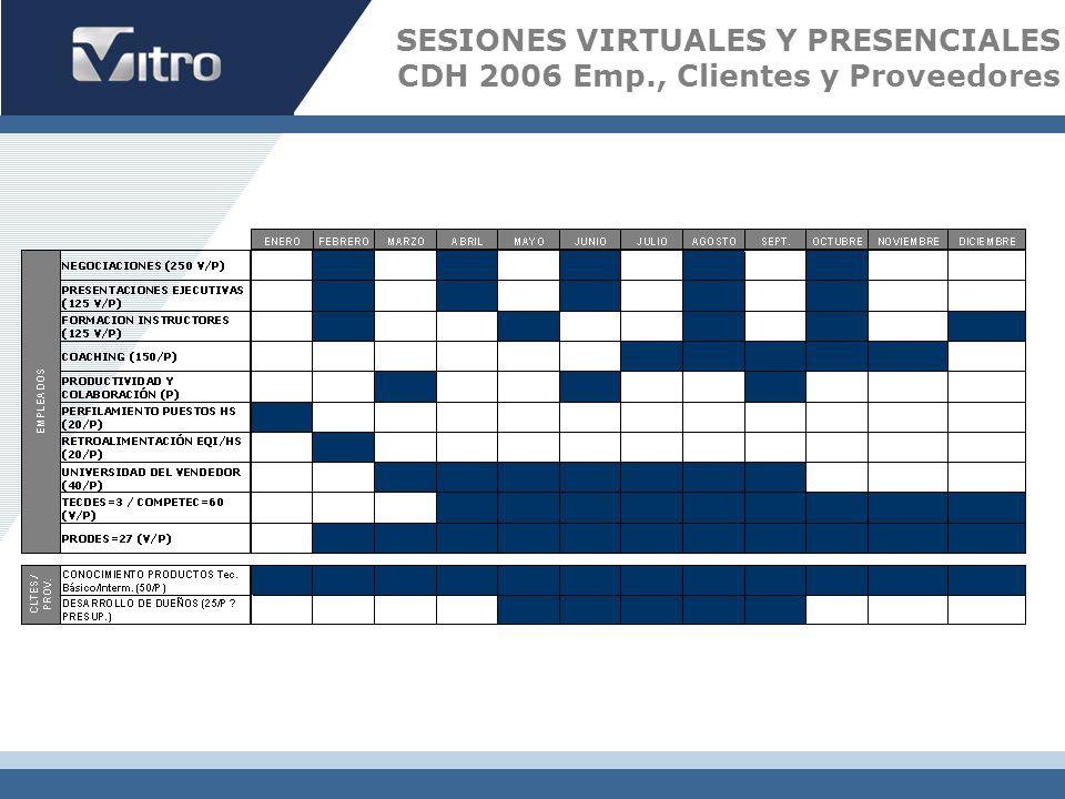 SESIONES VIRTUALES Y PRESENCIALES CDH 2006 Emp., Clientes y Proveedores