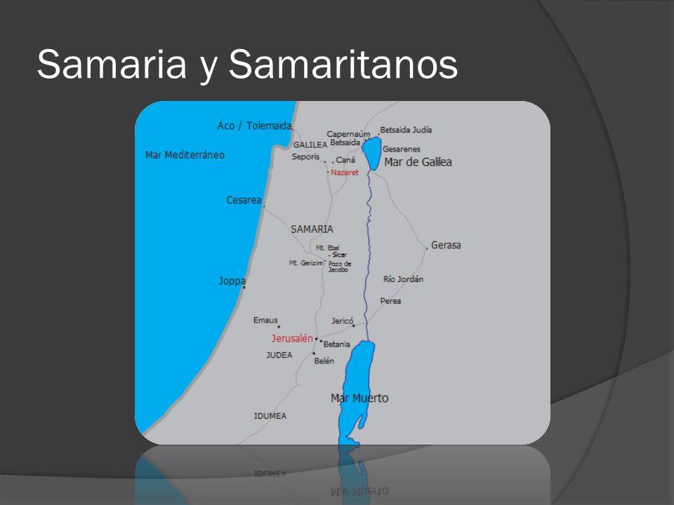 Samaria y Samaritanos
