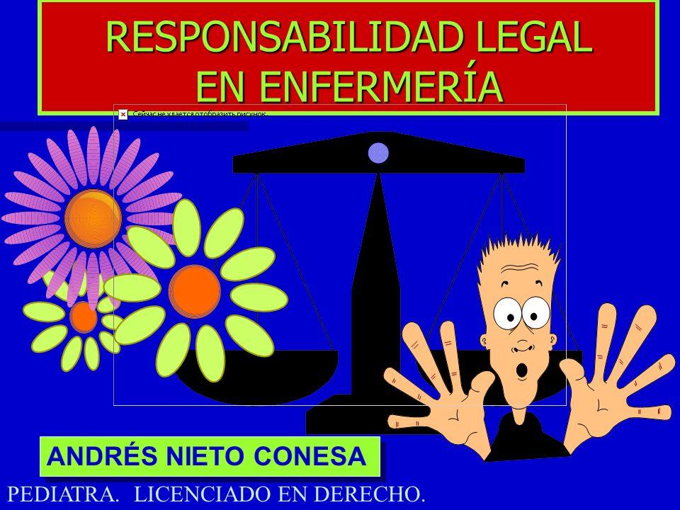RESPONSABILIDAD LEGAL EN ENFERMERÍA ANDRÉS NIETO CONESA PEDIATRA. LICENCIADO EN DERECHO.