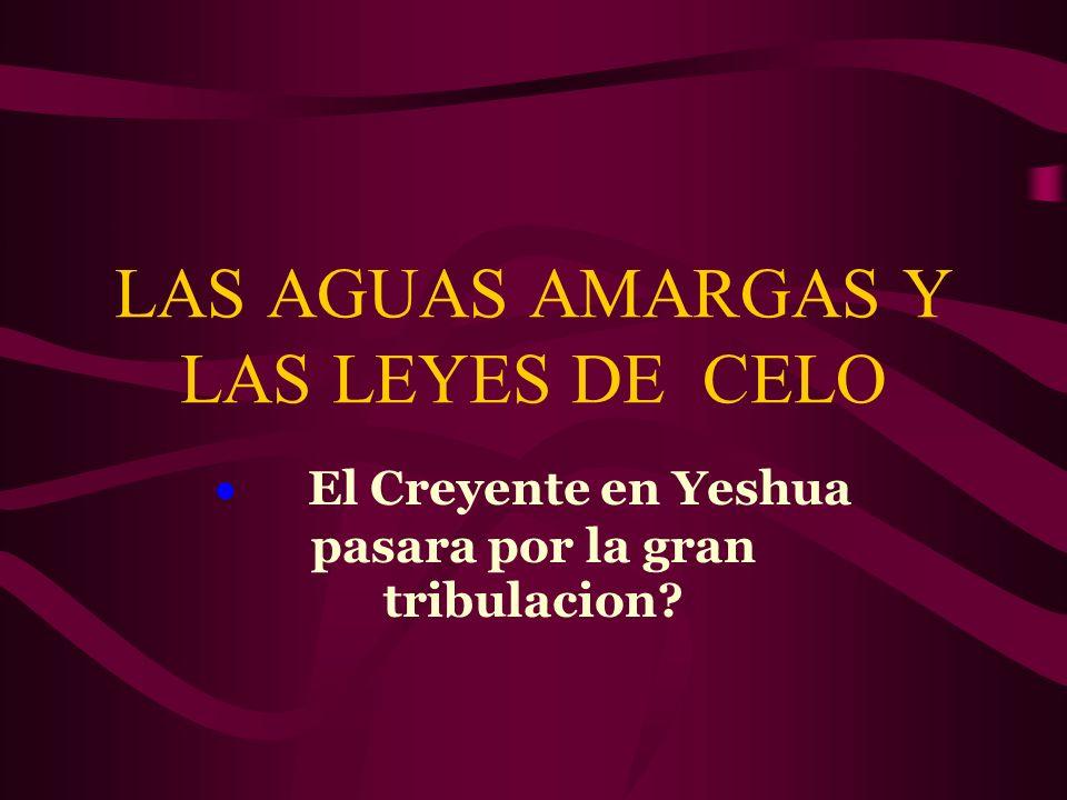 LAS AGUAS AMARGAS Y LAS LEYES DE CELO El Creyente en Yeshua pasara por la gran tribulacion?
