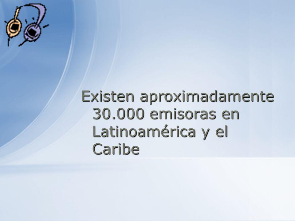 Existen aproximadamente 30.000 emisoras en Latinoamérica y el Caribe