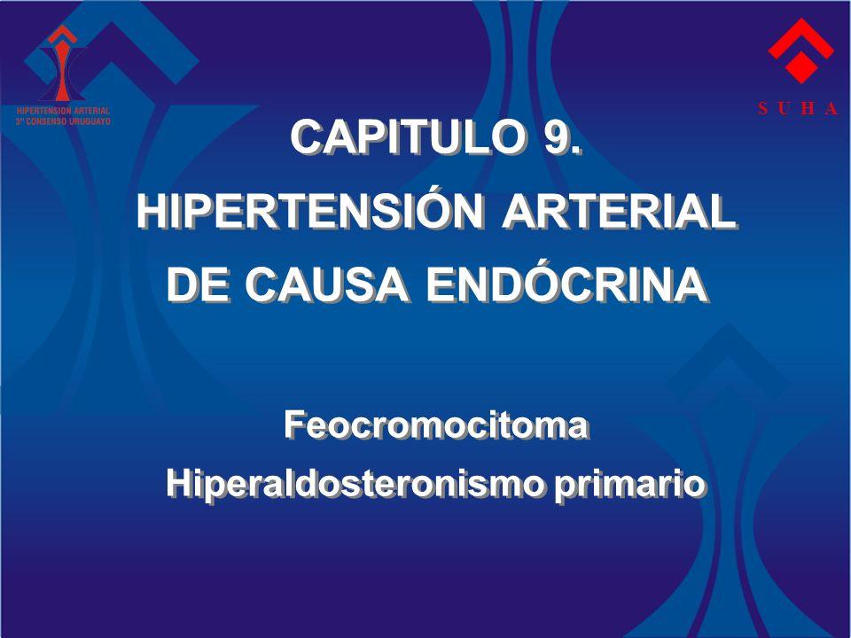CAPITULO 9. HIPERTENSIÓN ARTERIAL DE CAUSA ENDÓCRINA Feocromocitoma Hiperaldosteronismo primario S U H A