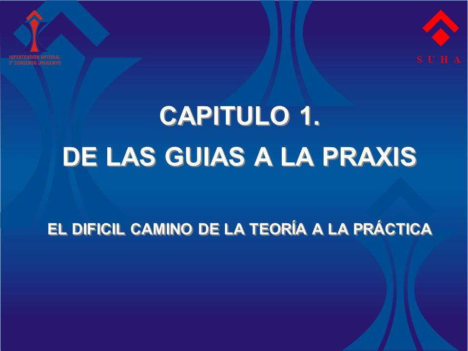CAPITULO 1. DE LAS GUIAS A LA PRAXIS EL DIFICIL CAMINO DE LA TEORÍA A LA PRÁCTICA S U H A