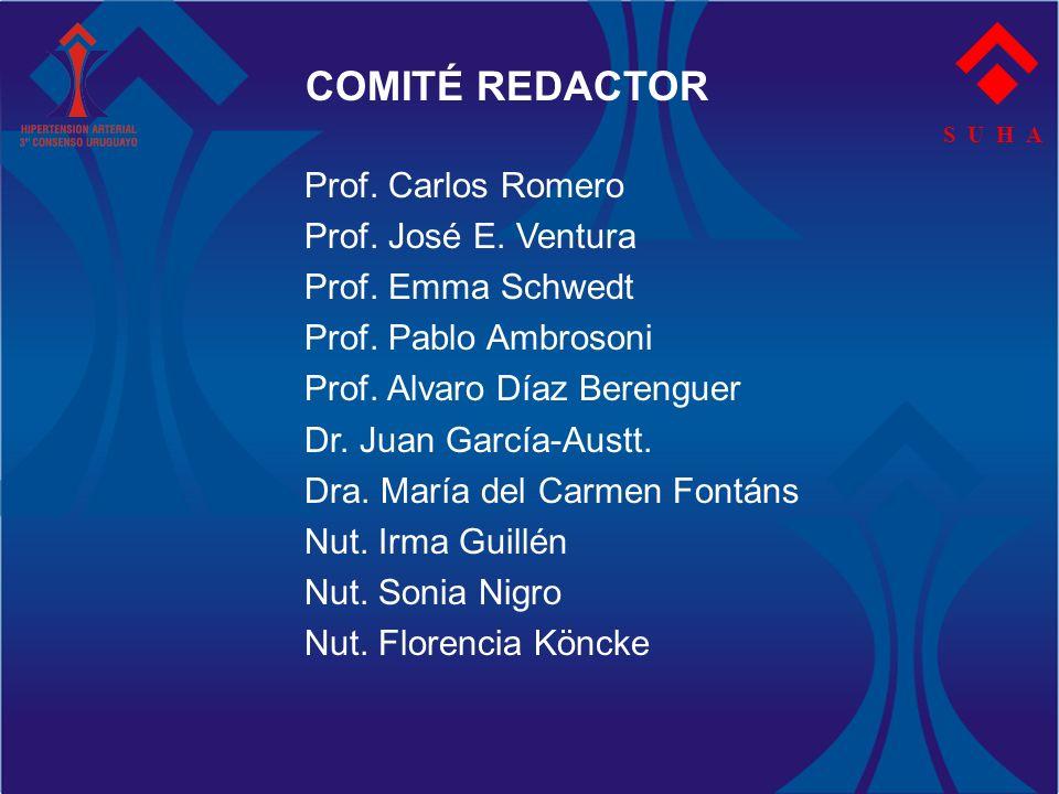 S U H A COMITÉ REDACTOR Prof. Carlos Romero Prof. José E. Ventura Prof. Emma Schwedt Prof. Pablo Ambrosoni Prof. Alvaro Díaz Berenguer Dr. Juan García