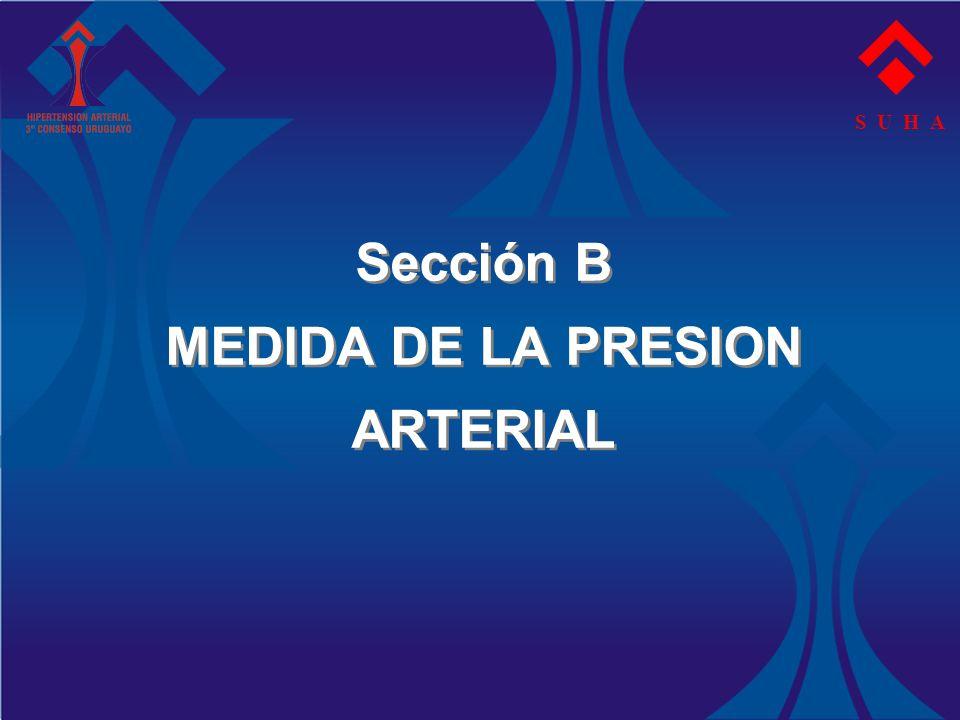 Sección B MEDIDA DE LA PRESION ARTERIAL S U H A