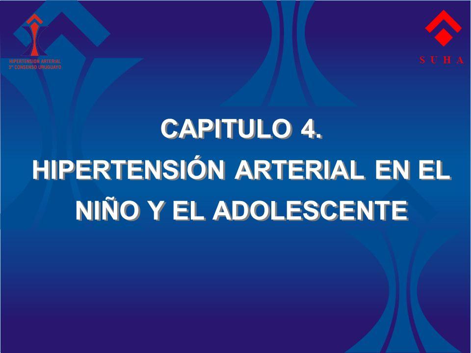 CAPITULO 4. HIPERTENSIÓN ARTERIAL EN EL NIÑO Y EL ADOLESCENTE S U H A