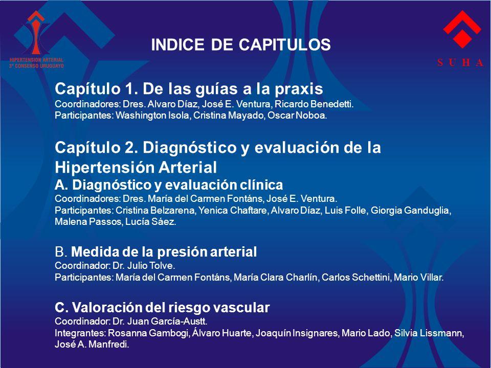 S U H A INDICE DE CAPITULOS Capítulo 3.Tratamiento de la Hipertensión arterial esencial A.