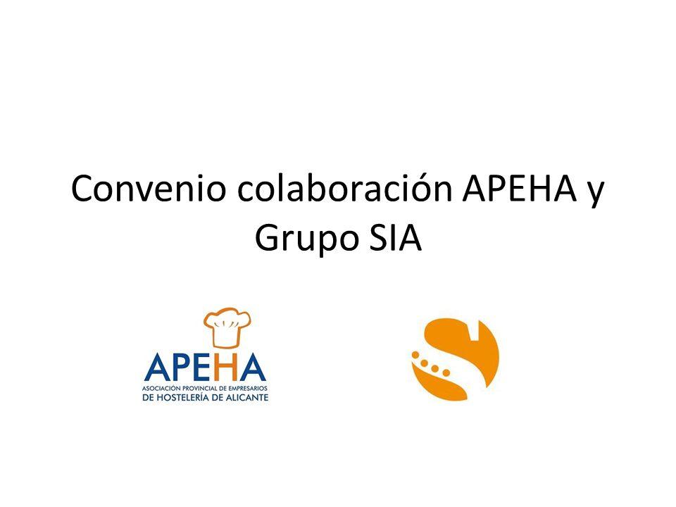 Convenio colaboración APEHA y Grupo SIA