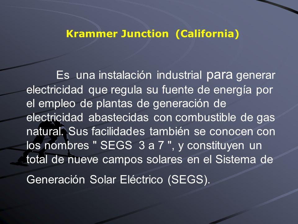 Es una instalación industrial para generar electricidad que regula su fuente de energía por el empleo de plantas de generación de electricidad abastecidas con combustible de gas natural.