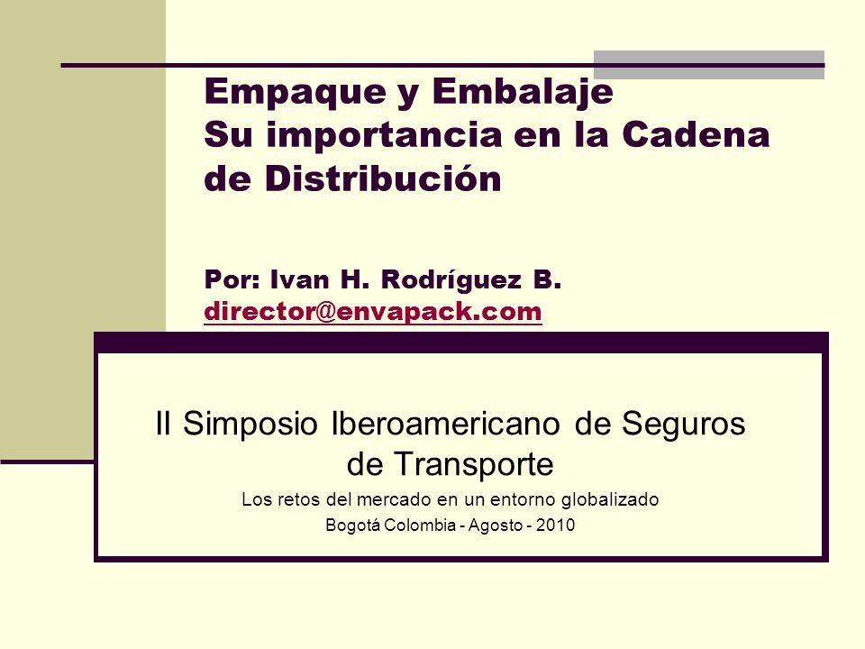 Empaque y Embalaje Su importancia en la Cadena de Distribución Por: Ivan H. Rodríguez B. director@envapack.com director@envapack.com II Simposio Ibero