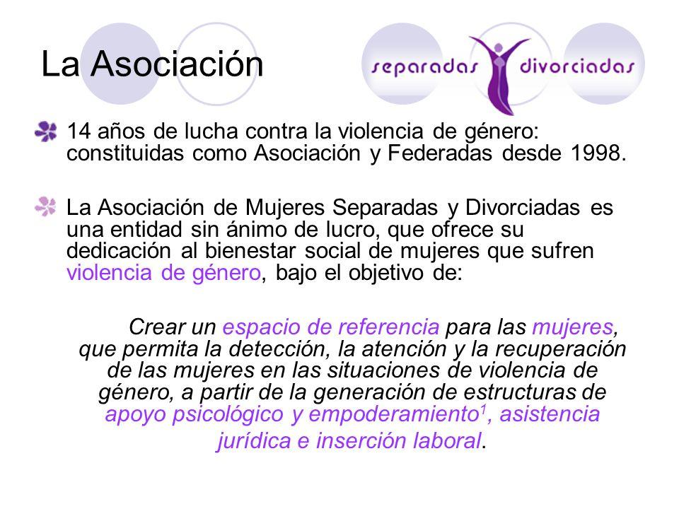 La Asociación 14 años de lucha contra la violencia de género: constituidas como Asociación y Federadas desde 1998. La Asociación de Mujeres Separadas
