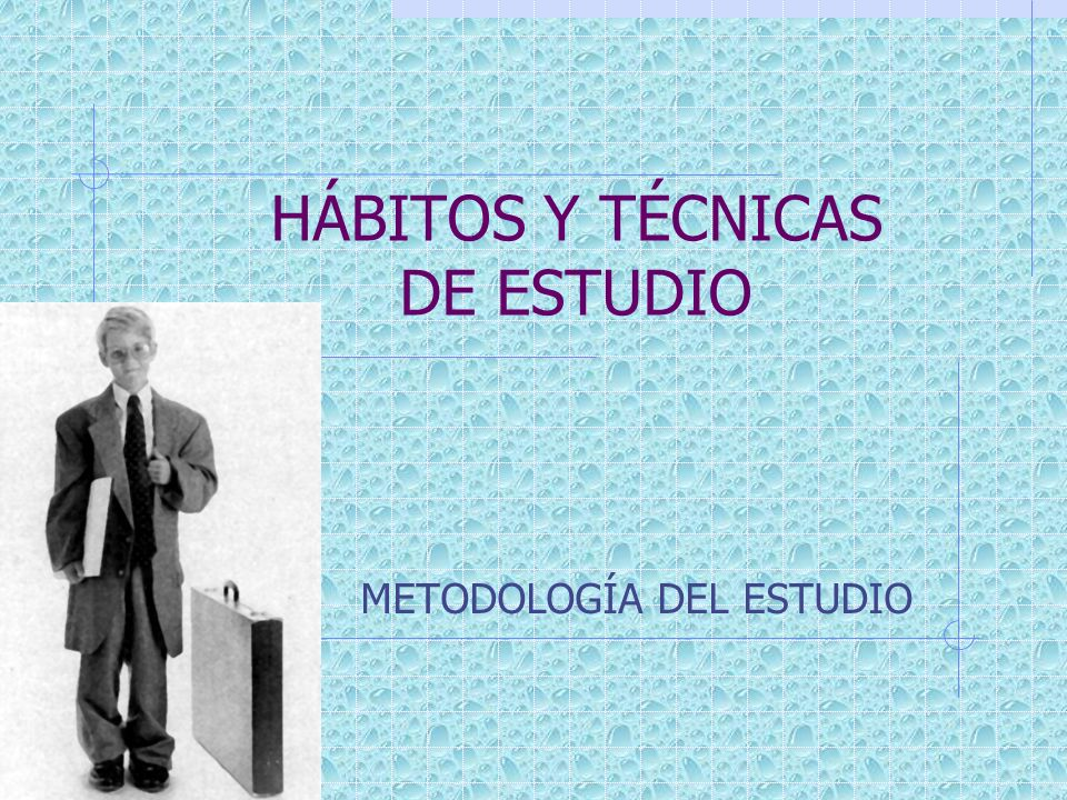 HÁBITOS Y TÉCNICAS DE ESTUDIO METODOLOGÍA DEL ESTUDIO