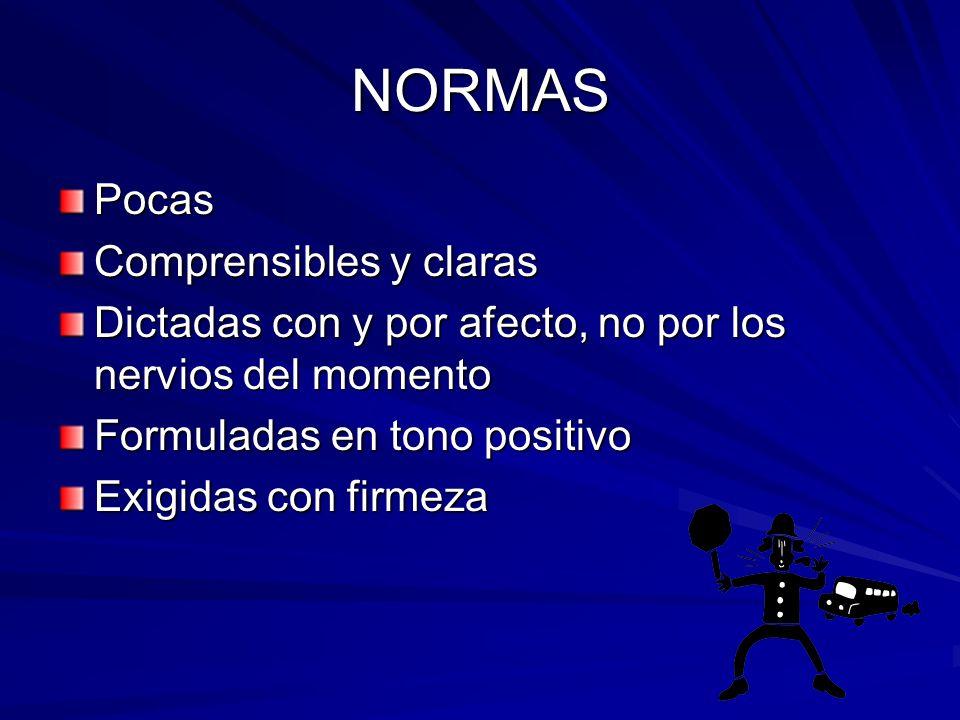 Principios básicos para establecer normas y límites 1.