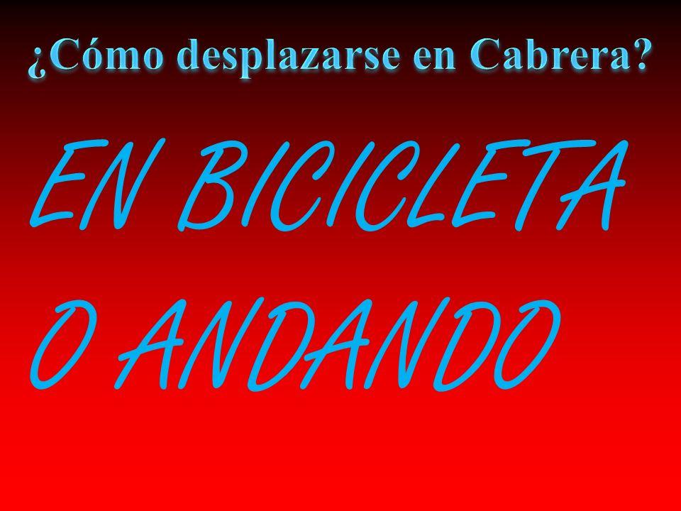 EN BICICLETA O ANDANDO