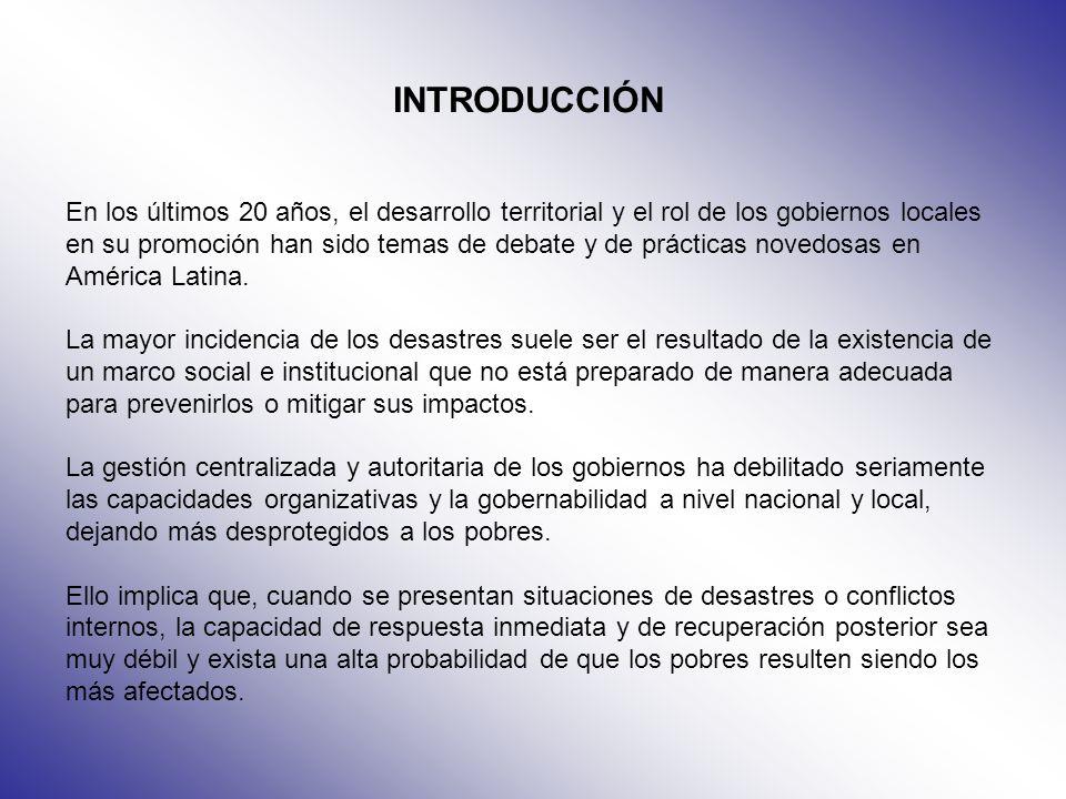 OBJETIVOS GENERALES Determinar la definición del concepto Contribuir de manera directa con los esfuerzos de combate a la pobreza, por medio de la focalización de acciones en el desarrollo local y la gestión territorial, a fin de contribuir a la reducción de la pobreza, principalmente en zonas rurales.