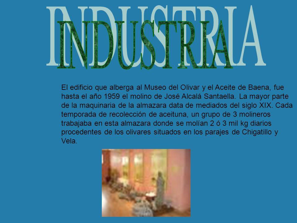 El edificio que alberga al Museo del Olivar y el Aceite de Baena, fue hasta el año 1959 el molino de José Alcalá Santaella. La mayor parte de la maqui